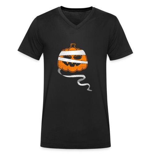 Halloween Bandaged Pumpkin - Männer Bio-T-Shirt mit V-Ausschnitt von Stanley & Stella