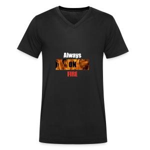 Always on fire - Mannen bio T-shirt met V-hals van Stanley & Stella