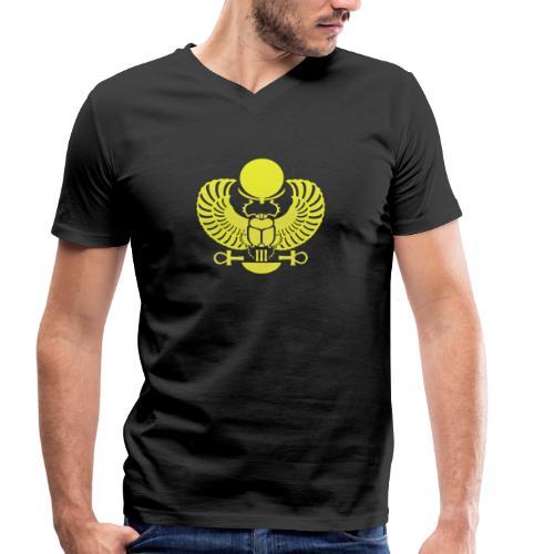 Geflügelter Skarabäus - Männer Bio-T-Shirt mit V-Ausschnitt von Stanley & Stella