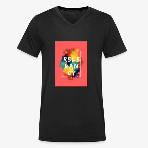 Red - Men's Organic V-Neck T-Shirt by Stanley & Stella