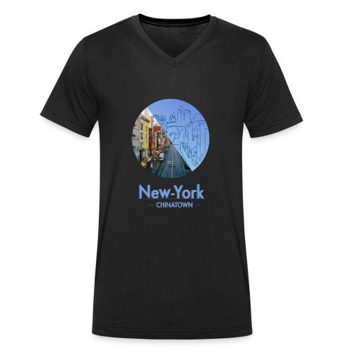 New-York Chinatown - T-shirt bio col V Stanley & Stella Homme