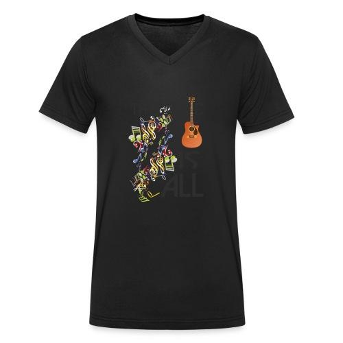 Musik ist Alles - Männer Bio-T-Shirt mit V-Ausschnitt von Stanley & Stella
