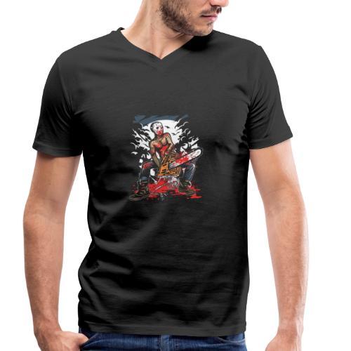Chainsaw Killer - Männer Bio-T-Shirt mit V-Ausschnitt von Stanley & Stella