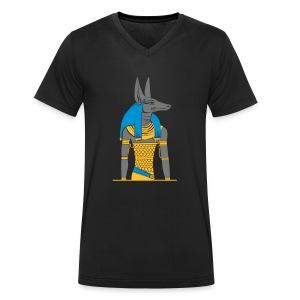 Der altägyptische Gott Anubis - Männer Bio-T-Shirt mit V-Ausschnitt von Stanley & Stella