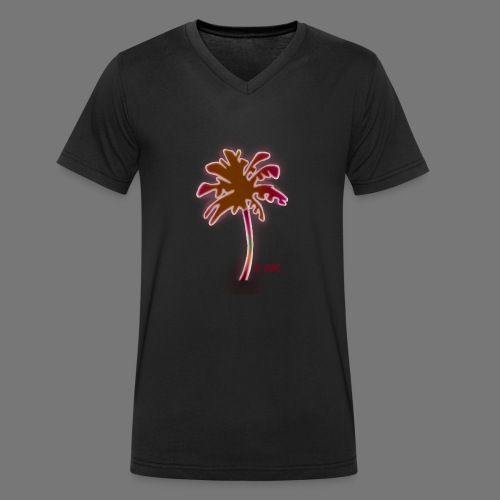la palma - Camiseta ecológica hombre con cuello de pico de Stanley & Stella