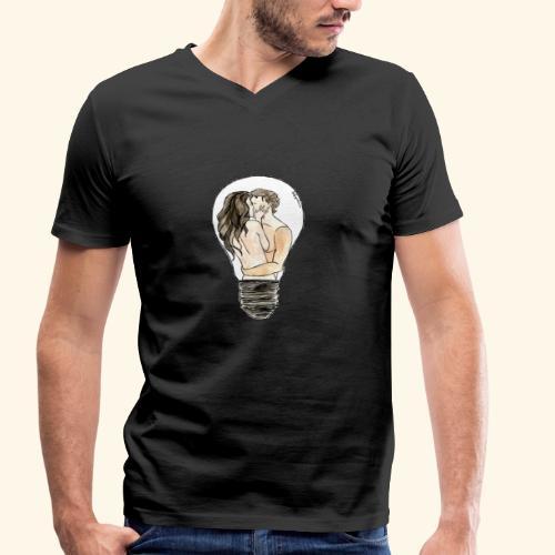 LOVERS - T-shirt ecologica da uomo con scollo a V di Stanley & Stella