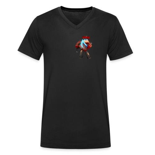Skin Von N-Octan Minecraft - Männer Bio-T-Shirt mit V-Ausschnitt von Stanley & Stella