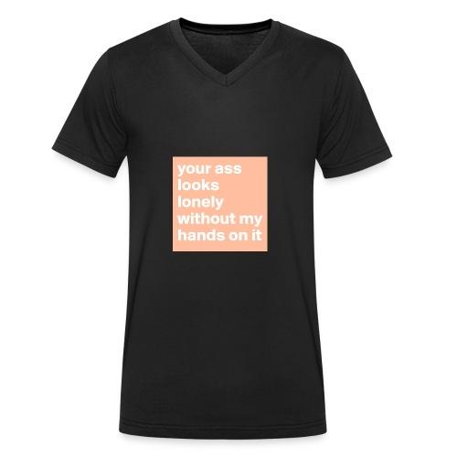 your ass - Mannen bio T-shirt met V-hals van Stanley & Stella