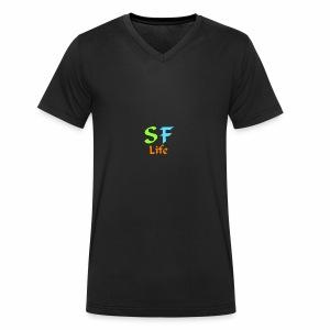 Sflife Merch - Økologisk Stanley & Stella T-shirt med V-udskæring til herrer