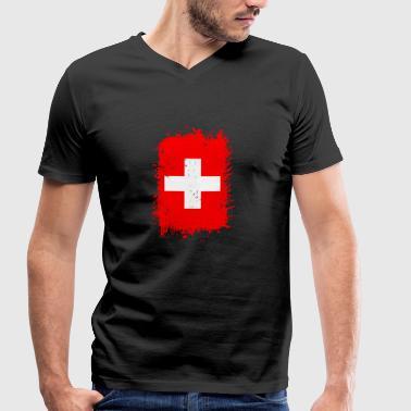 Switzerland - Men's Organic V-Neck T-Shirt by Stanley & Stella