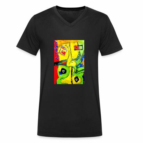 Art1 - T-shirt ecologica da uomo con scollo a V di Stanley & Stella