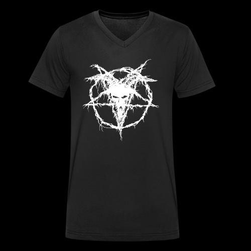 White Goat - T-shirt ecologica da uomo con scollo a V di Stanley & Stella