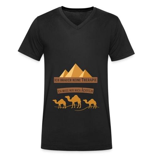 egypt Therapie - Männer Bio-T-Shirt mit V-Ausschnitt von Stanley & Stella