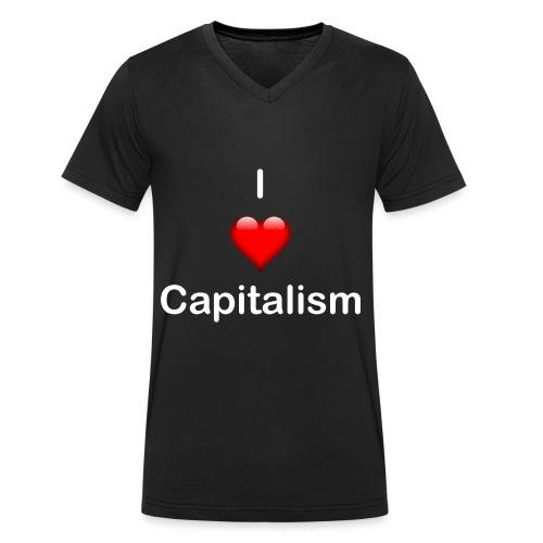I Love Capitalisum - Männer Bio-T-Shirt mit V-Ausschnitt von Stanley & Stella