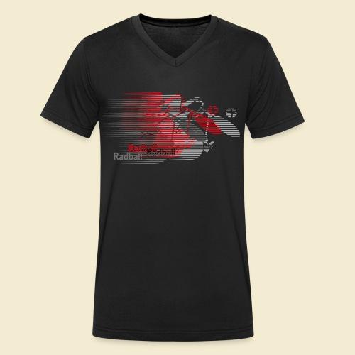 Radball   Earthquake Red - Männer Bio-T-Shirt mit V-Ausschnitt von Stanley & Stella