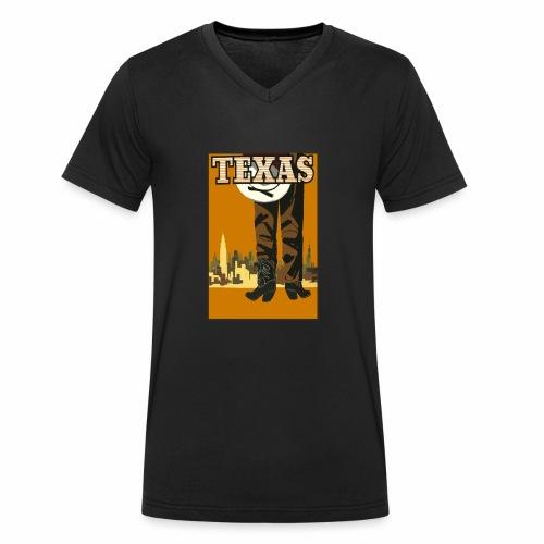Texas - Männer Bio-T-Shirt mit V-Ausschnitt von Stanley & Stella