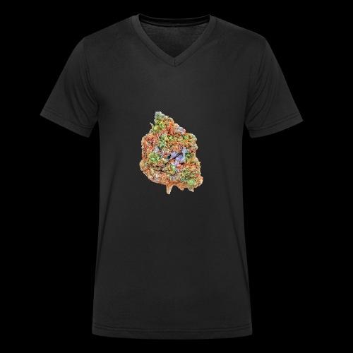 Marihuana Bud - Männer Bio-T-Shirt mit V-Ausschnitt von Stanley & Stella