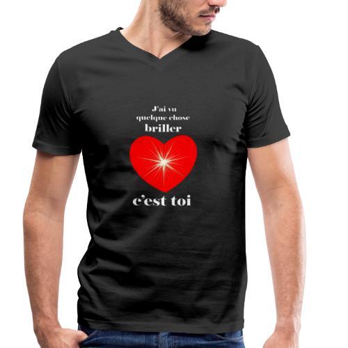 Coeur brillant ...amoureux ou inspiré FS - T-shirt bio col V Stanley & Stella Homme