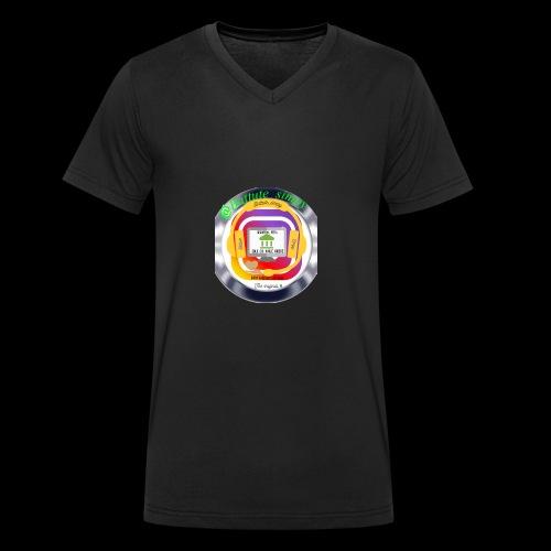 Logo of battutesimpy - T-shirt ecologica da uomo con scollo a V di Stanley & Stella