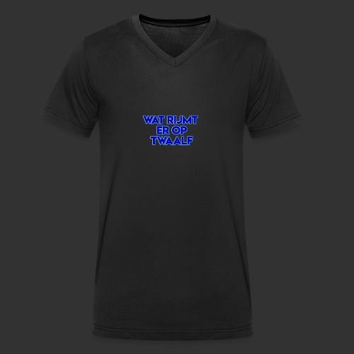 wat rijmt er op twaalf - Mannen bio T-shirt met V-hals van Stanley & Stella