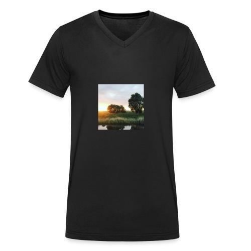 sunset - Men's Organic V-Neck T-Shirt by Stanley & Stella