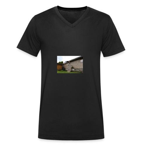 flipping - Økologisk T-skjorte med V-hals for menn fra Stanley & Stella