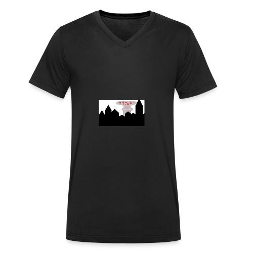 AtomPizza Kanalpicture - Männer Bio-T-Shirt mit V-Ausschnitt von Stanley & Stella