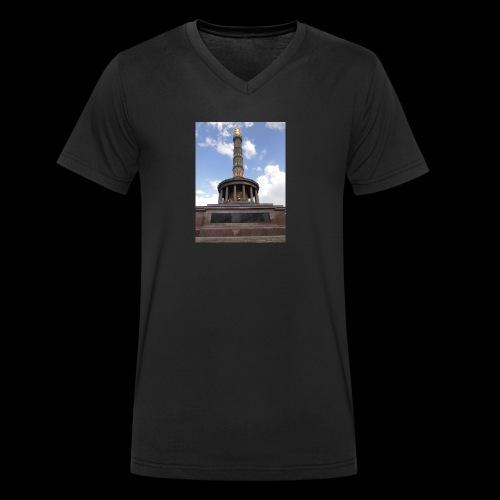 Die Siegessäule - Männer Bio-T-Shirt mit V-Ausschnitt von Stanley & Stella