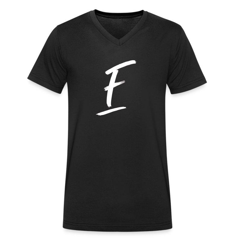 Radio Fugue F Blanc - T-shirt bio col V Stanley & Stella Homme