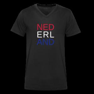 Nederland in de kleuren van de vlag - Mannen bio T-shirt met V-hals van Stanley & Stella