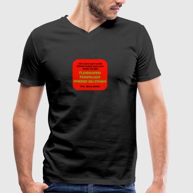 Tempelhof wieder eröffnen - Männer Bio-T-Shirt mit V-Ausschnitt von Stanley & Stella