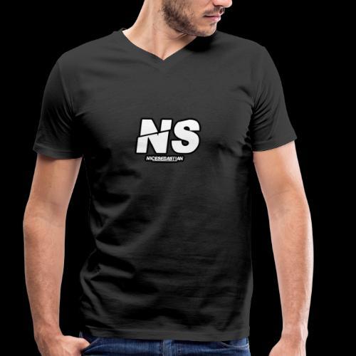 NiceSebastian - Økologisk T-skjorte med V-hals for menn fra Stanley & Stella
