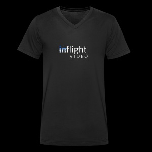 inflight Video White Logo - Men's Organic V-Neck T-Shirt by Stanley & Stella