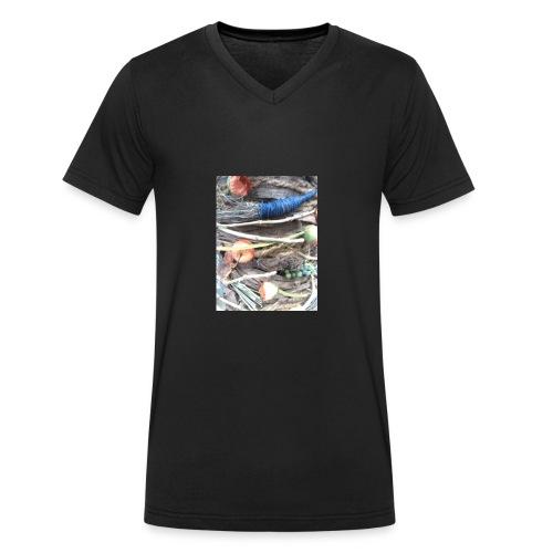 frutas - Camiseta ecológica hombre con cuello de pico de Stanley & Stella