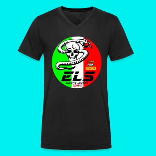 els sponsor - T-shirt ecologica da uomo con scollo a V di Stanley & Stella