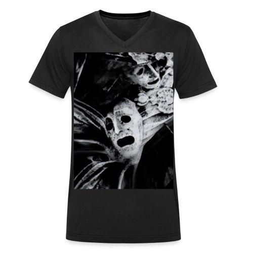 WDTS macambre print - Men's Organic V-Neck T-Shirt by Stanley & Stella