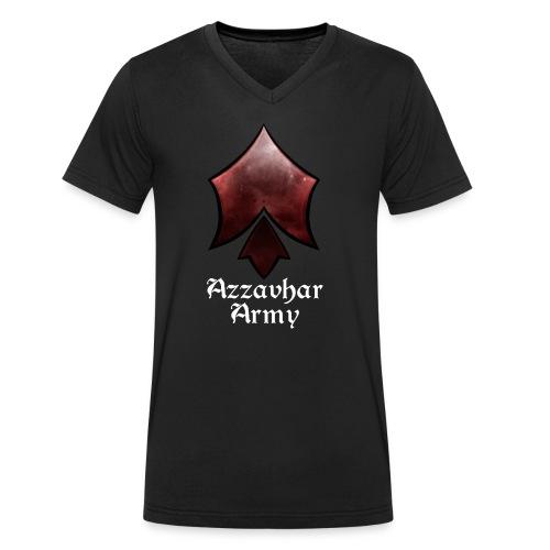 Azzavhar Army Insignia - Men's Organic V-Neck T-Shirt by Stanley & Stella