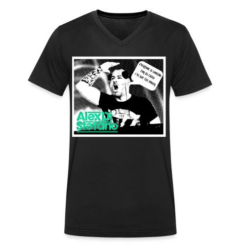 cartoonalex - Mannen bio T-shirt met V-hals van Stanley & Stella