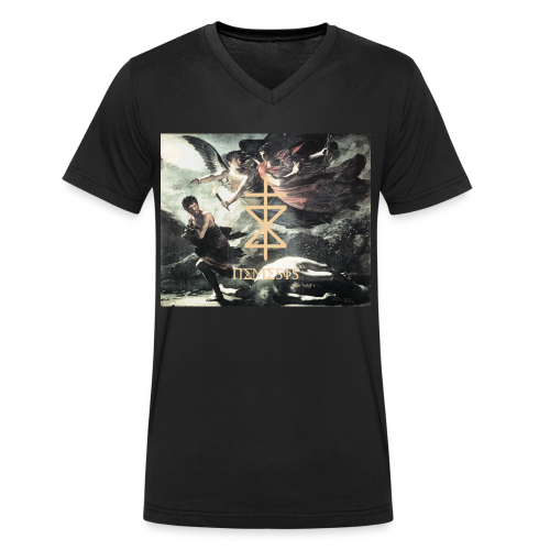 NEMESIS BEATZ: GODDESS - Männer Bio-T-Shirt mit V-Ausschnitt von Stanley & Stella