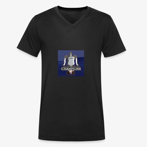 MFC Champions 2017/18 - Men's Organic V-Neck T-Shirt by Stanley & Stella