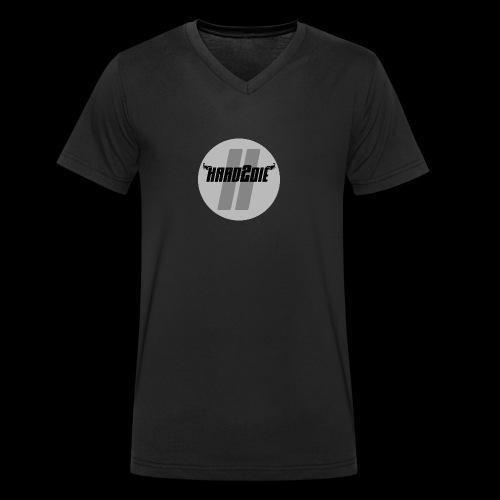Hard2die Logo - Männer Bio-T-Shirt mit V-Ausschnitt von Stanley & Stella