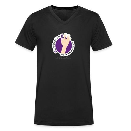 #generationE - wir unternehmen was - Männer Bio-T-Shirt mit V-Ausschnitt von Stanley & Stella