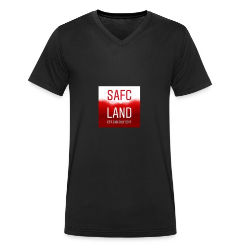 Safc_land logo - Men's Organic V-Neck T-Shirt by Stanley & Stella