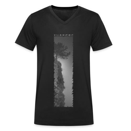 Villainspirit Black and White Tree - Männer Bio-T-Shirt mit V-Ausschnitt von Stanley & Stella
