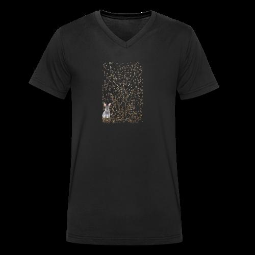 rabbit droppings mogosop - Mannen bio T-shirt met V-hals van Stanley & Stella