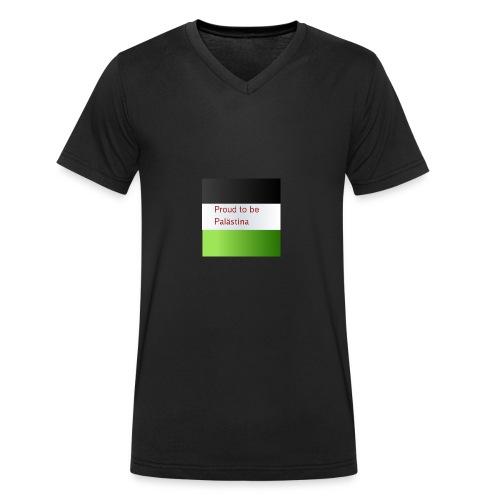 Proud to be Palästina - Männer Bio-T-Shirt mit V-Ausschnitt von Stanley & Stella