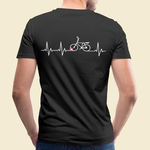 Radball | Heart Monitor White - Männer Bio-T-Shirt mit V-Ausschnitt von Stanley & Stella