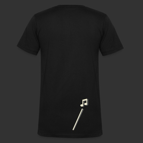 scheet muzieknoot - Mannen bio T-shirt met V-hals van Stanley & Stella
