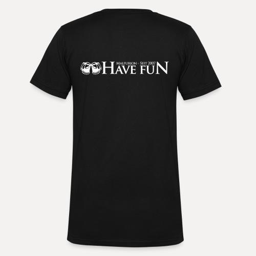 Logo Have Fun Malfurion - Männer Bio-T-Shirt mit V-Ausschnitt von Stanley & Stella
