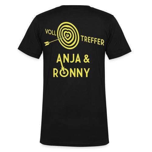 Anja und Ronny - Männer Bio-T-Shirt mit V-Ausschnitt von Stanley & Stella